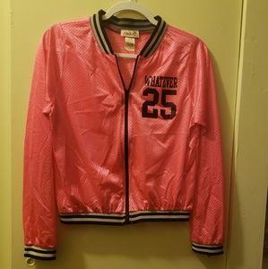 Women's mesh zip front jacket